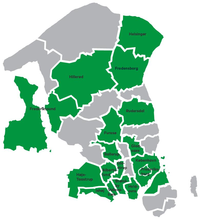 kommuner i region hovedstaden
